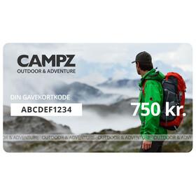 CAMPZ Gavekort 750 kr.